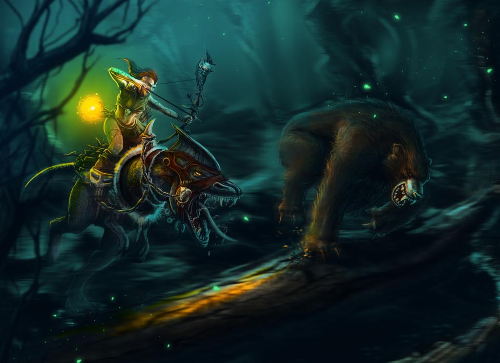 ilustracja, art, game, tablet, concept art, environment