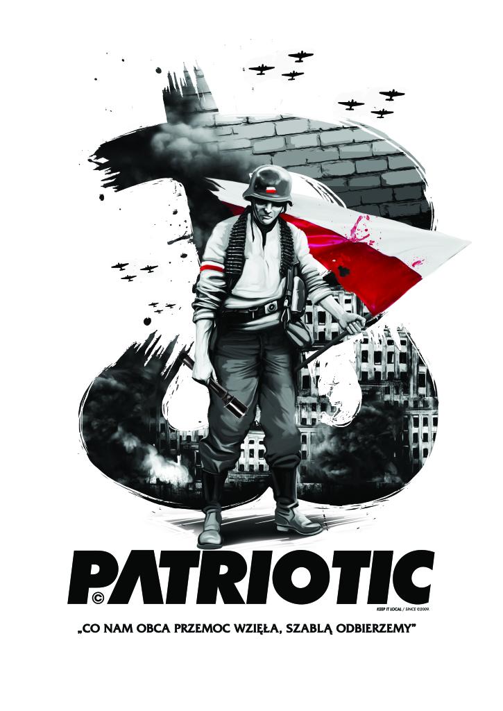patriotyczna ilustracja