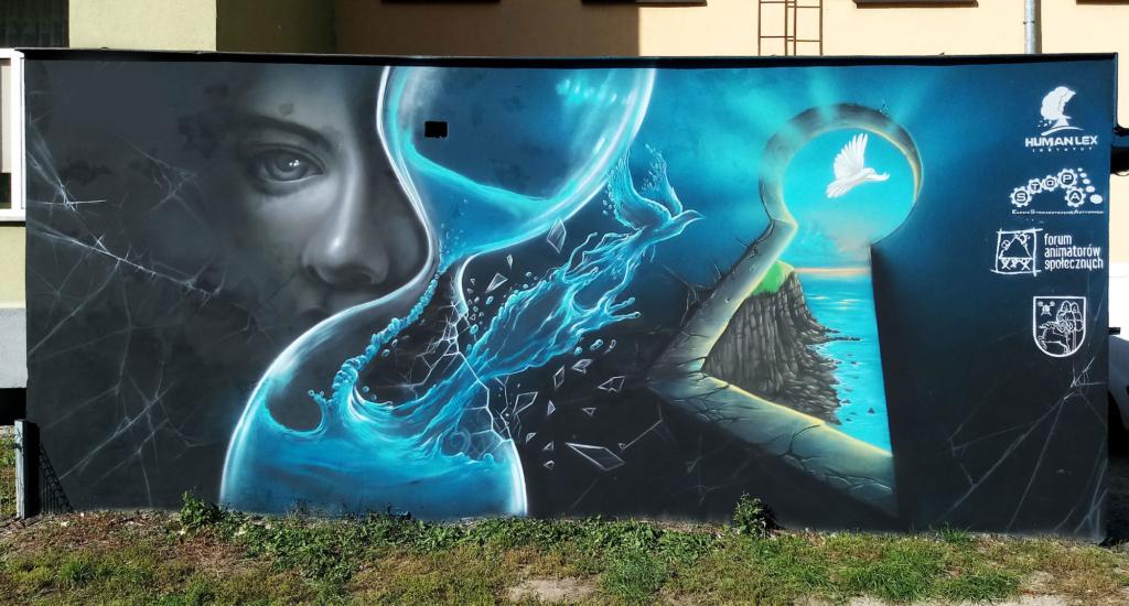 graffiti nawiązujące do śmierci