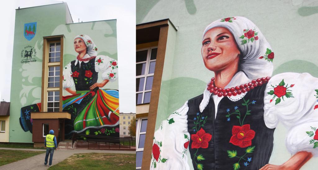 mural w Grajewie